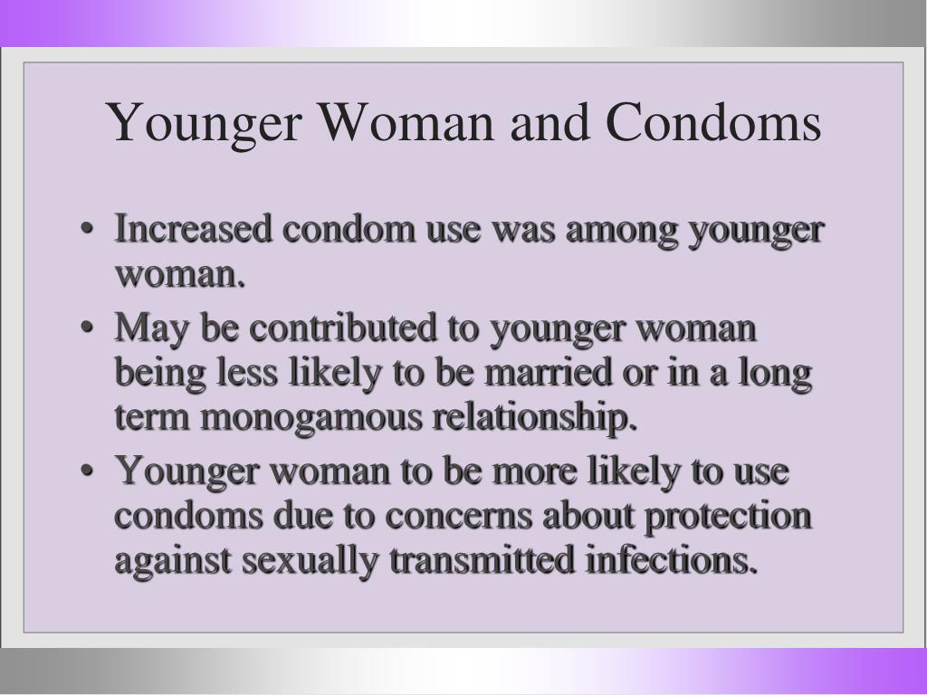 Younger Woman and Condoms