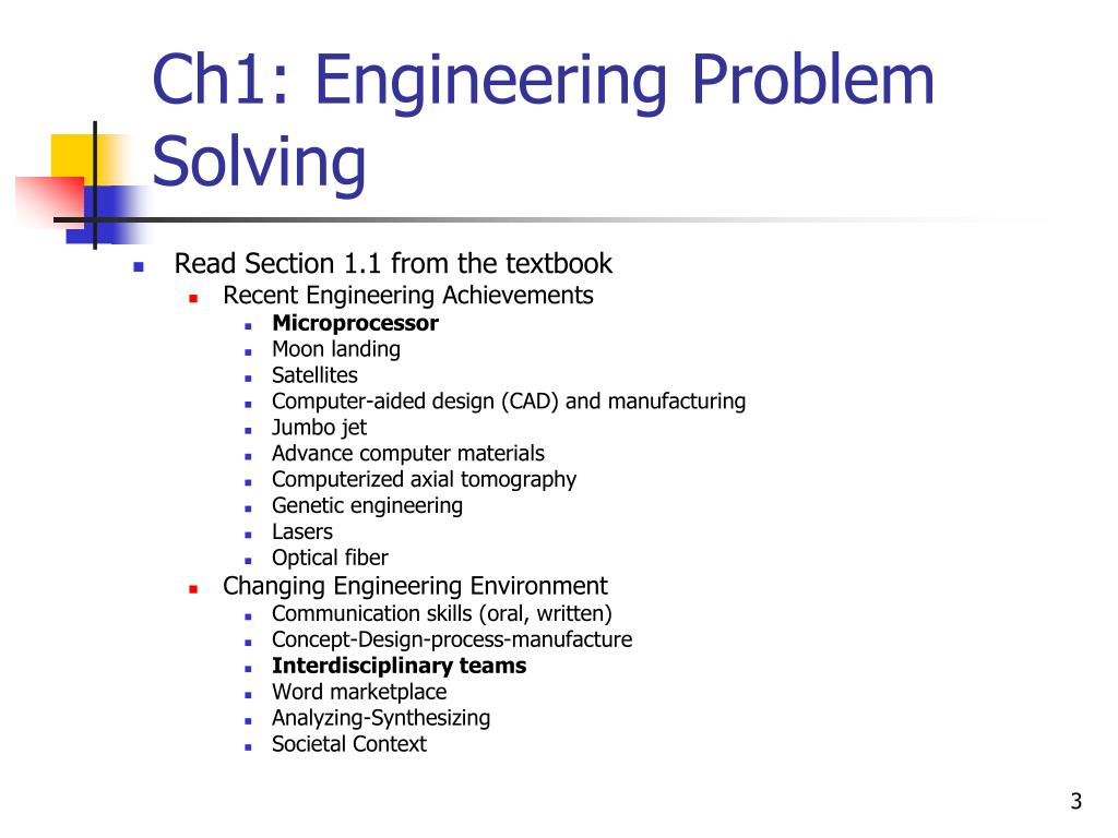 Ch1: Engineering Problem Solving