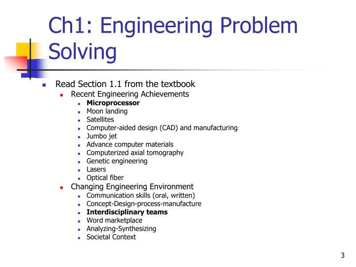 Ch1 engineering problem solving