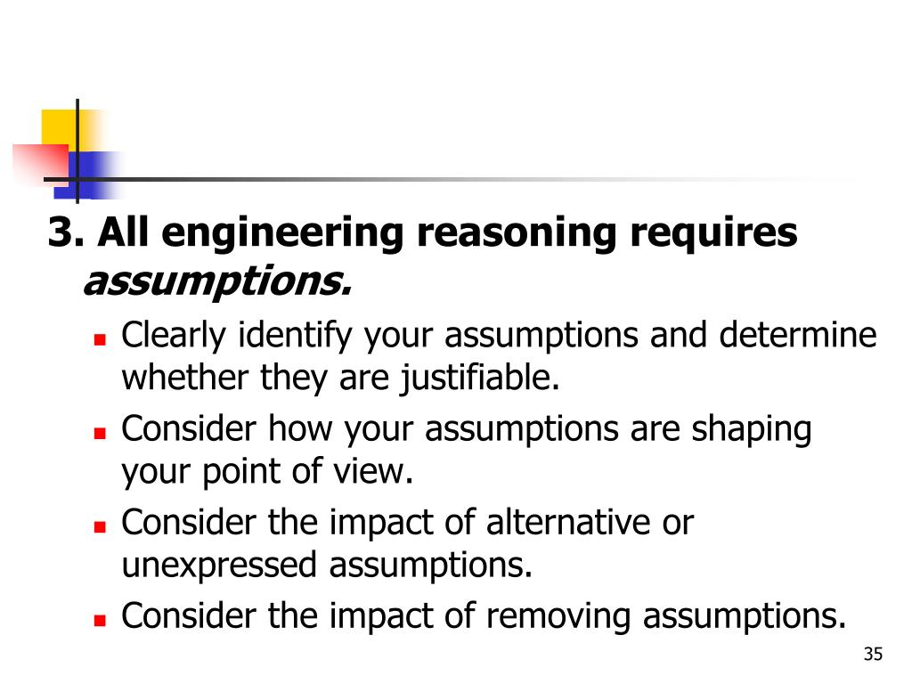 3. All engineering reasoning requires