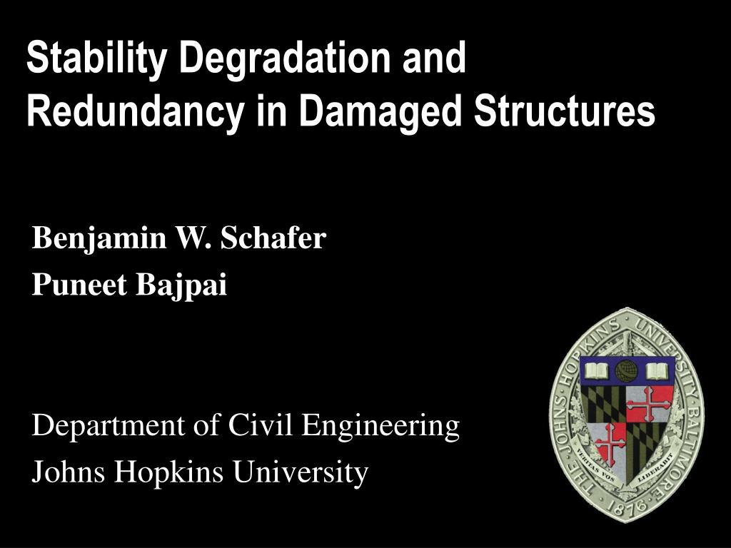 Stability Degradation and Redundancy in Damaged Structures