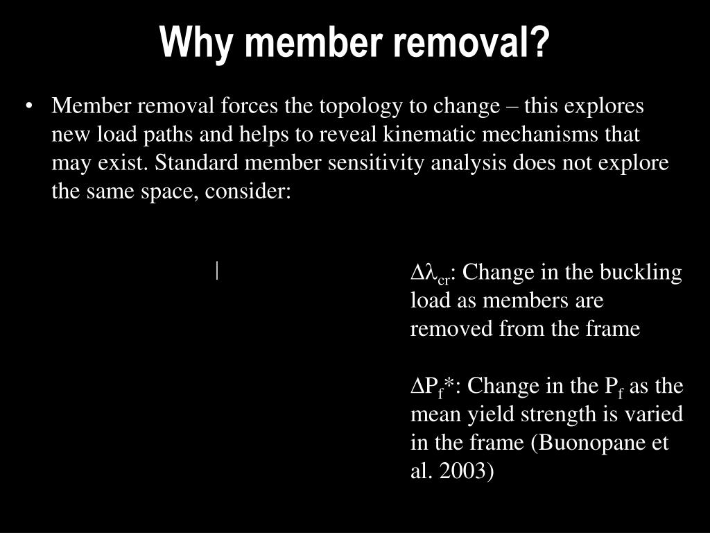 Why member removal?