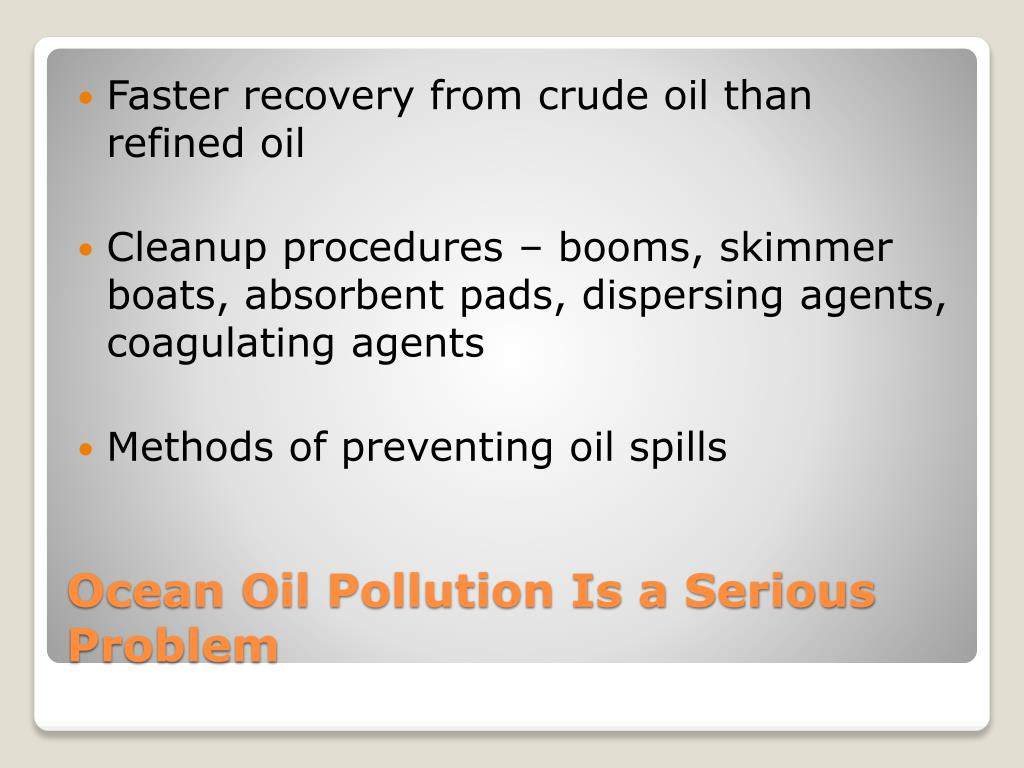 Faster recovery from crude oil than refined oil