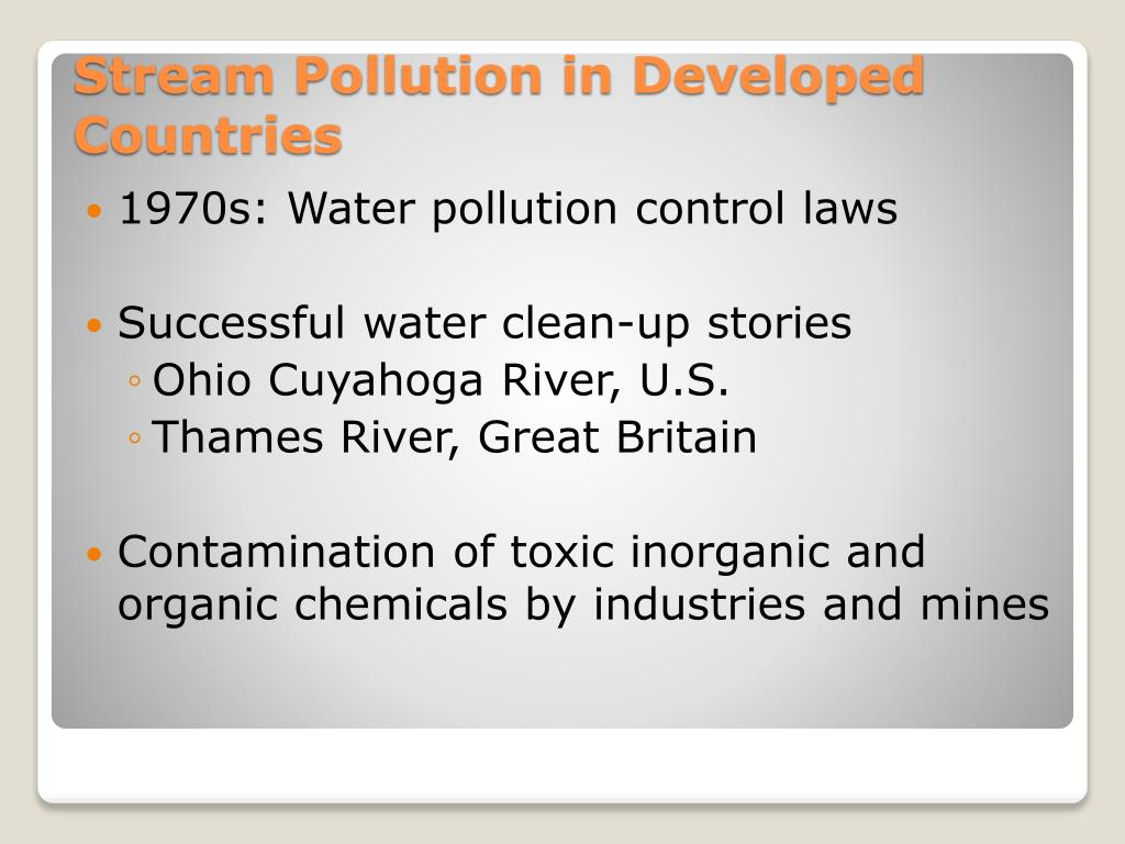 1970s: Water pollution control laws