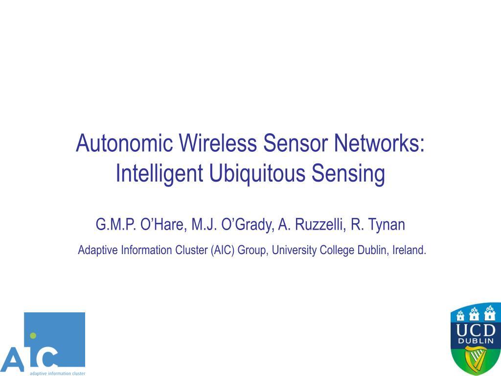 autonomic wireless sensor networks intelligent ubiquitous sensing