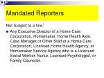 mandated reporters22