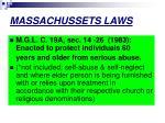 massachussets laws