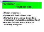 prevention practical tips