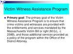 victim witness assistance program