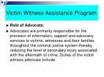 victim witness assistance program49