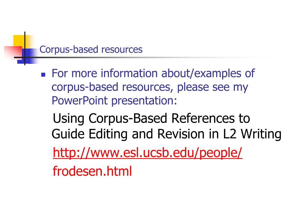 Corpus-based resources
