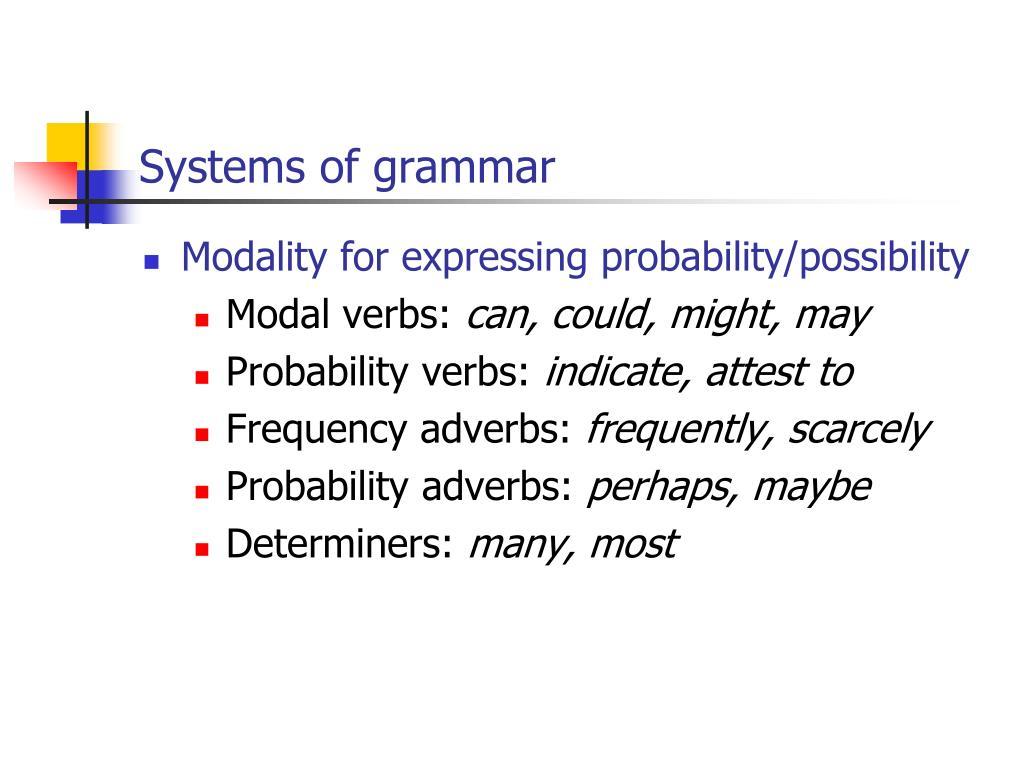 Systems of grammar