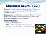 character counts cc