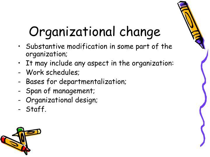 Organizational change2