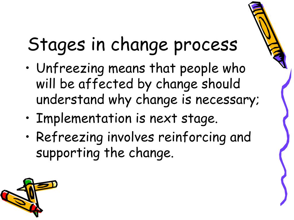 Stages in change process