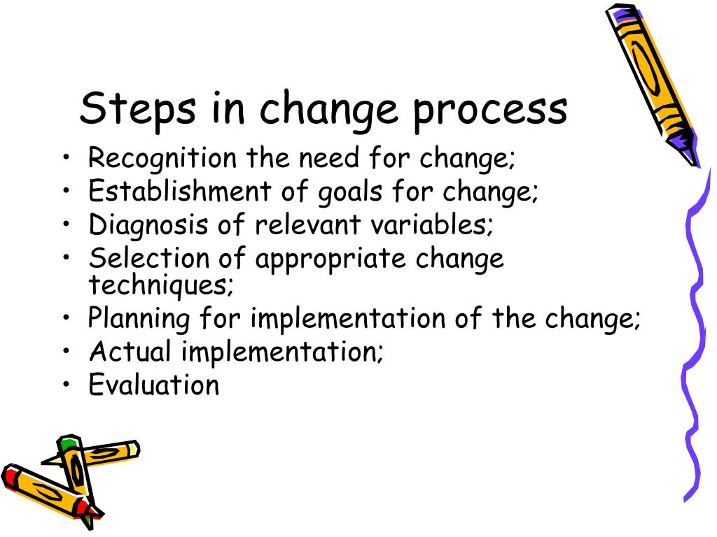 Steps in change process