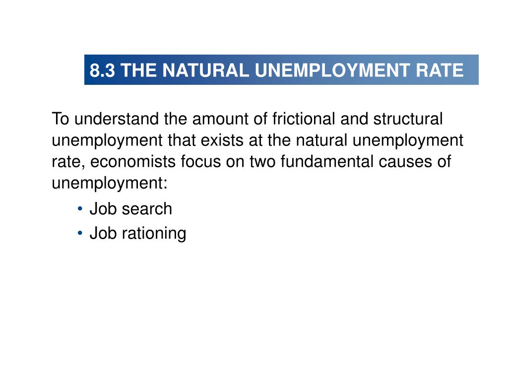 8.3 THE NATURAL UNEMPLOYMENT RATE
