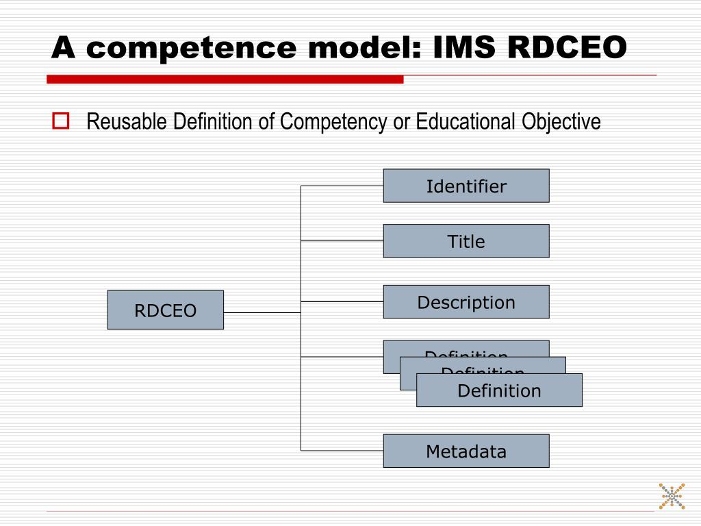 A competence model: IMS RDCEO