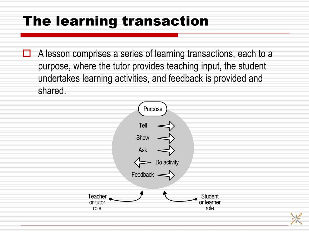 The learning transaction