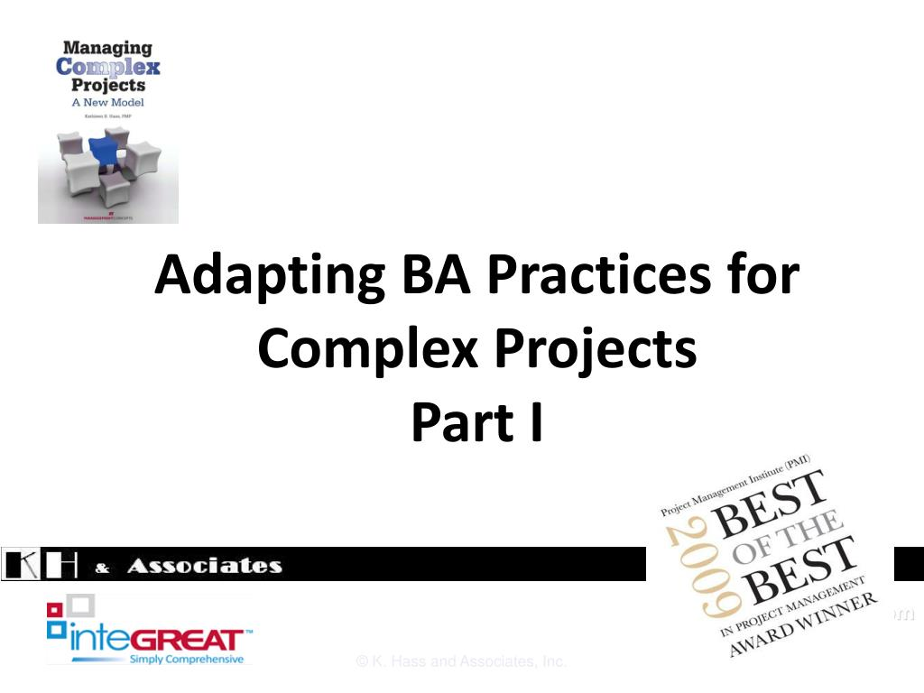 Adapting BA Practices for Complex Projects