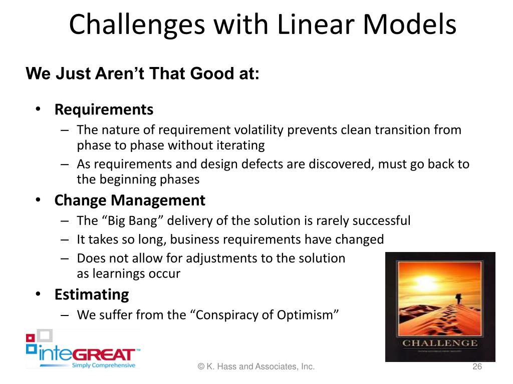 Challenges with Linear Models