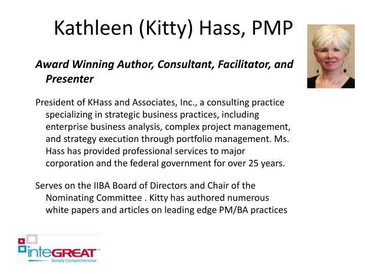 Kathleen kitty hass pmp