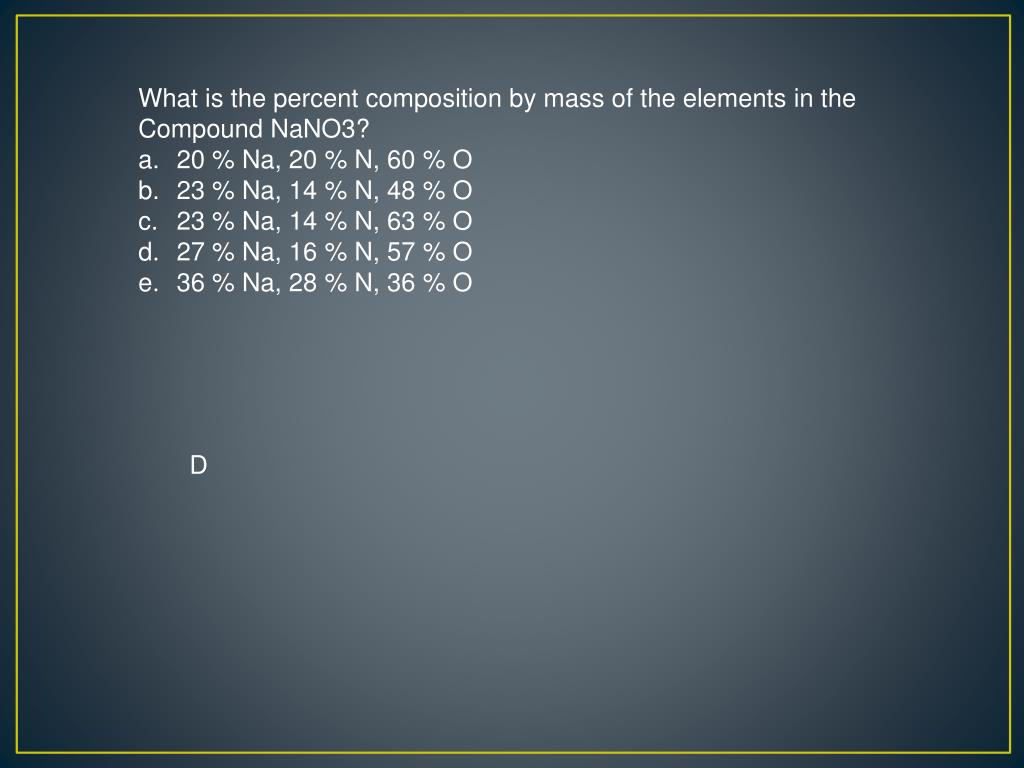 What is the percent composition by mass of the elements in the