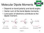 molecular dipole moments