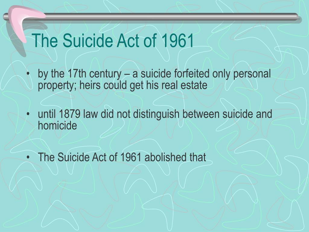 The Suicide Act of 1961