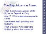 the republicans in power