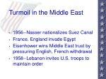 turmoil in the middle east