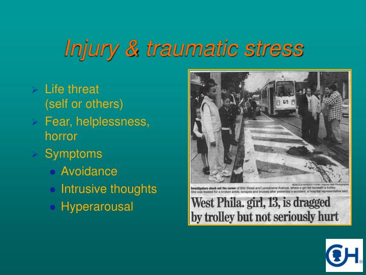 Injury traumatic stress