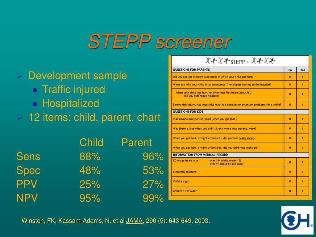 STEPP screener