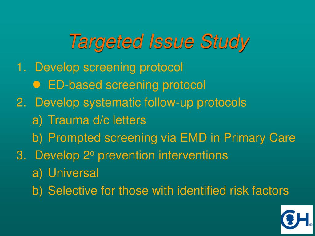 Targeted Issue Study