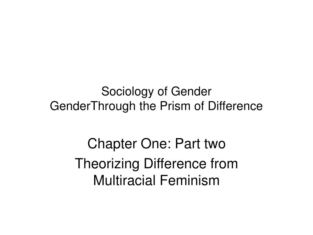 understanding the concept of gender mainstreaming sociology essay Feminist perspectives on sex and gender between analytic and continental feminism for more on different ways to understand gender) 2 sex or gender concepts).