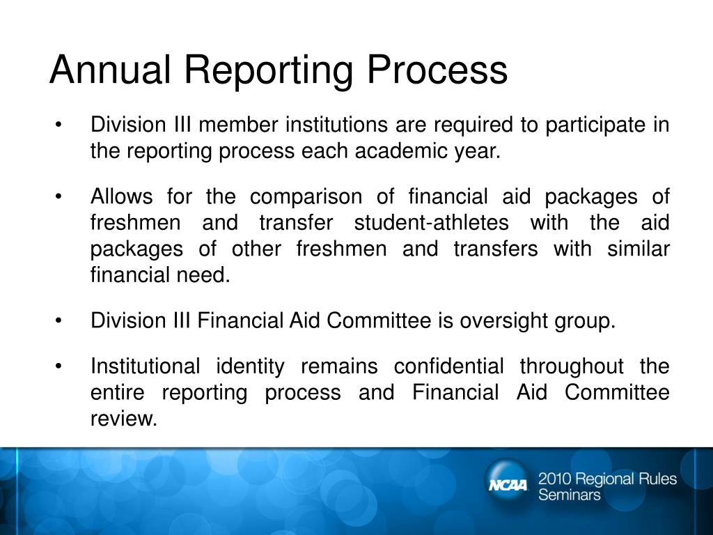 Annual Reporting Process
