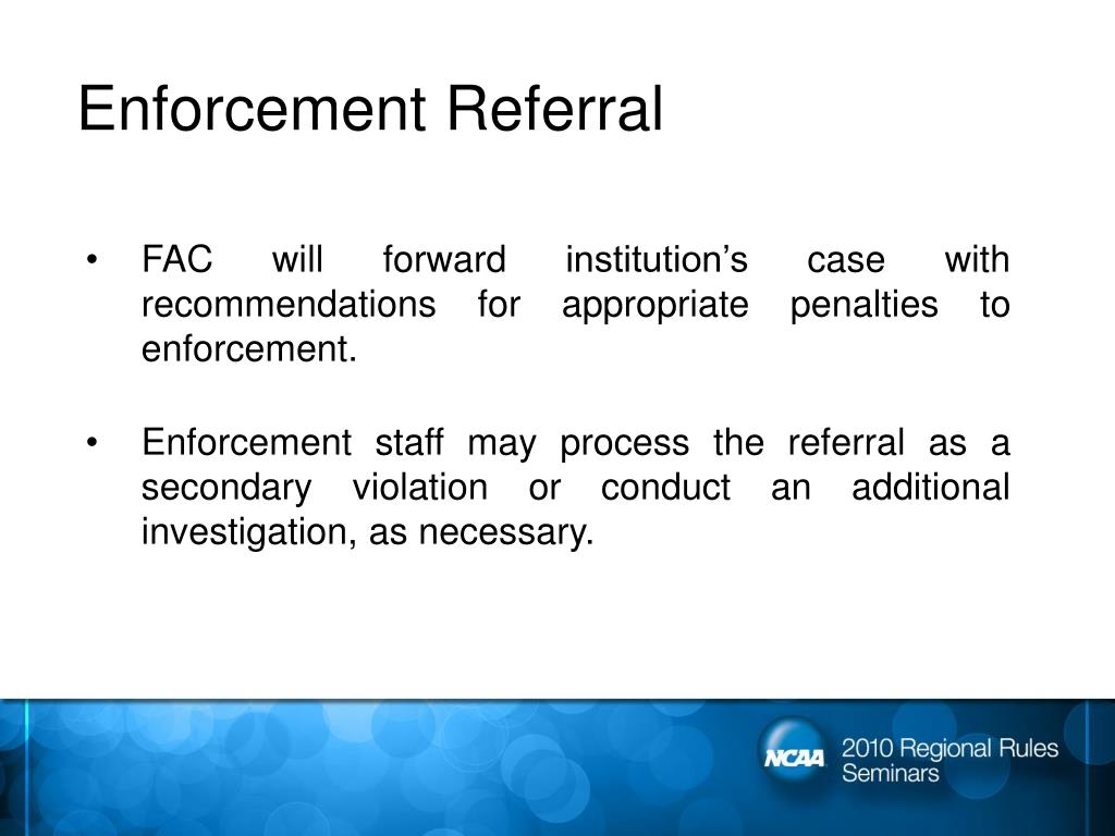 Enforcement Referral