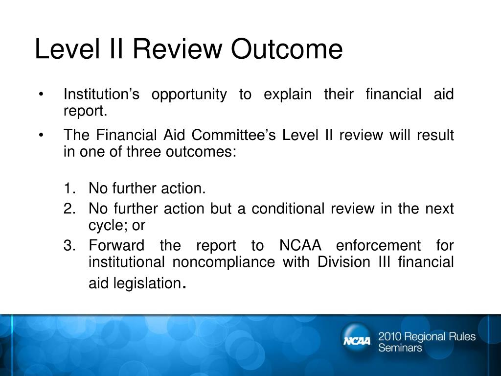 Level II Review Outcome