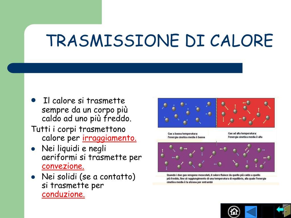 TRASMISSIONE DI CALORE