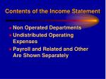 contents of the income statement13