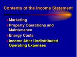 contents of the income statement15