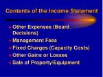 contents of the income statement16