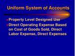uniform system of accounts10