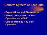 uniform system of accounts9