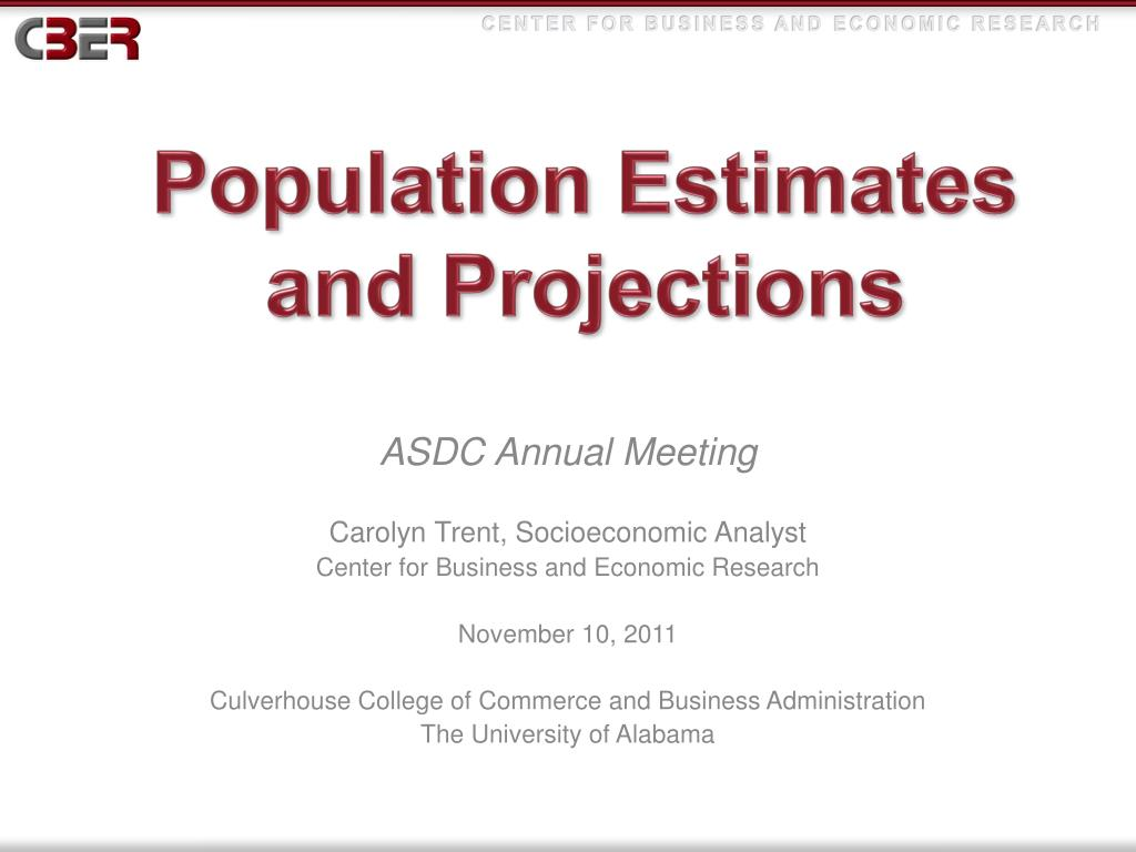 population estimates and projections l.