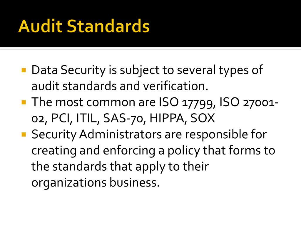 Audit Standards