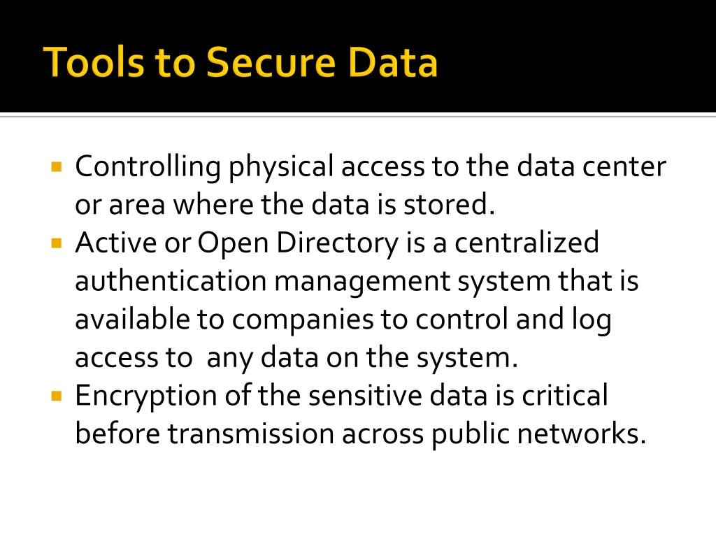 Tools to Secure Data