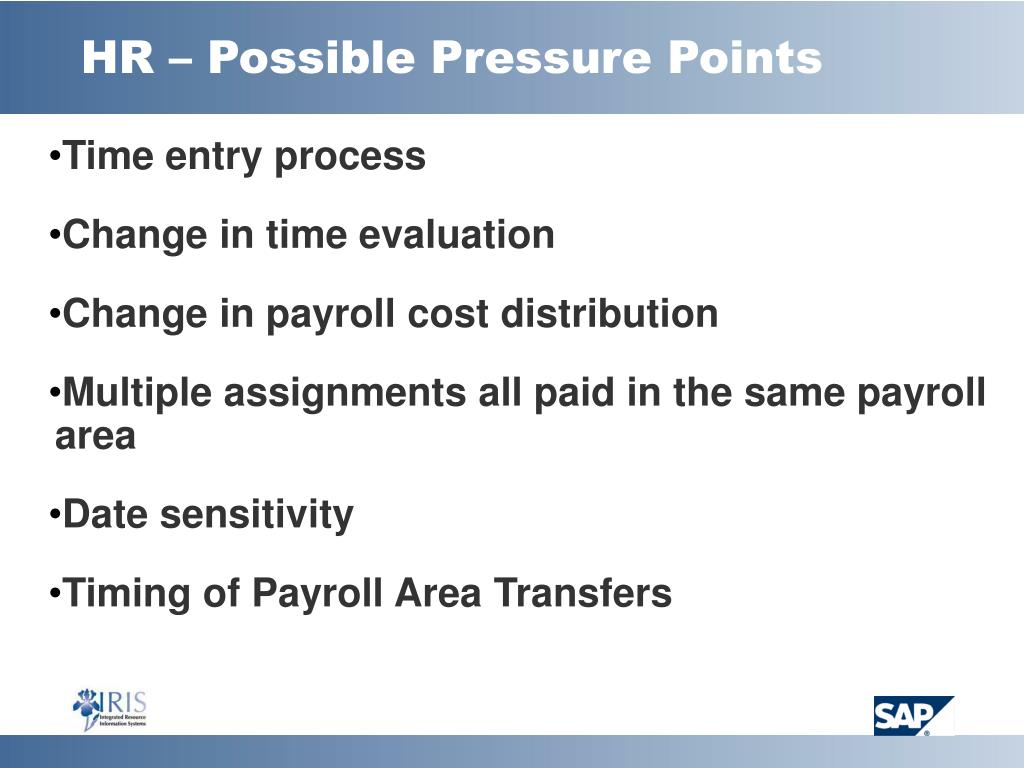 HR – Possible Pressure Points
