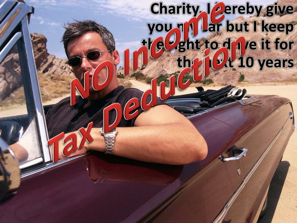 Charity, I hereby give you my car but I keep the right to drive it for the next 10 years