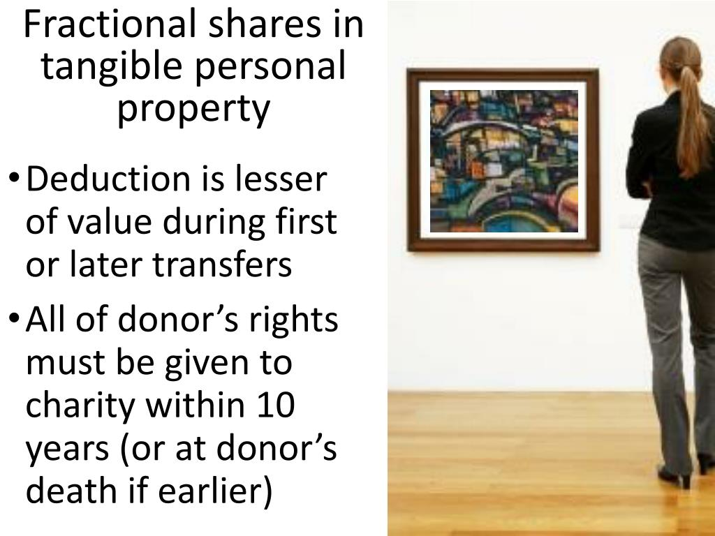 Fractional shares in tangible personal property
